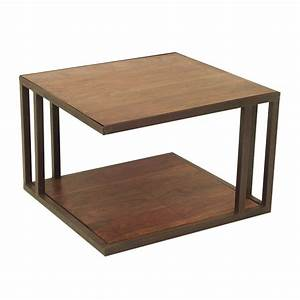 Table Basse Loft : table basse carr e inspiration d co avec le style industriel loft ~ Teatrodelosmanantiales.com Idées de Décoration