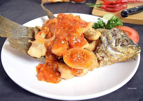 Cara membuat ikan bakar padang. Resep Gurame Goreng Saus Padang oleh Thobakhy (Juanita ...