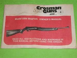 Crosman M 2200 Magnum Owners Manual For Sale At Gunauction