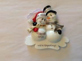 personalized christmas ornament pregnant by kutekustomkreations