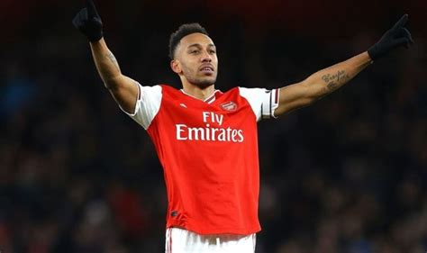 Arsenal striker Pierre-Emerick Aubameyang delivers ...