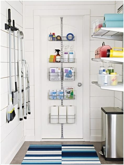Bathroom Shelving Ideas For Small Spaces by Clever Vertical Storage Ideas For A Laundry Room