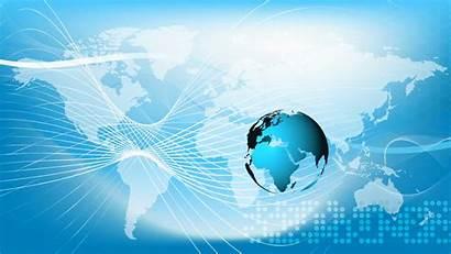 Globe Background Business Earth Technology Communications Map