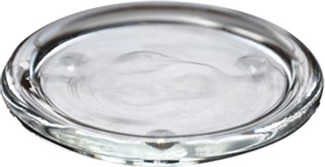 clear glass plates clear glass pillar candle plate dish plant pot stand 11cm dia ebay