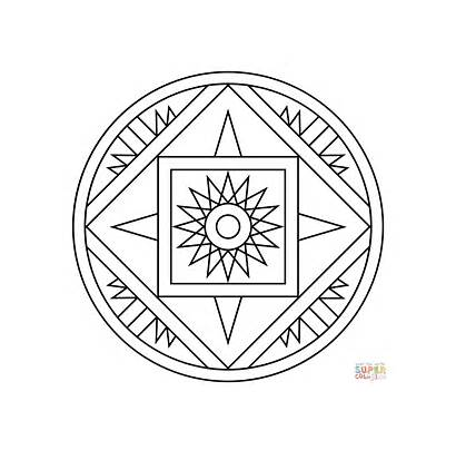 Coloring Mandala Pages Star Pattern Printable Dot