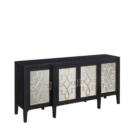 black mirrored cabinet clover black mirrored cabinet 9671800210 the home depot