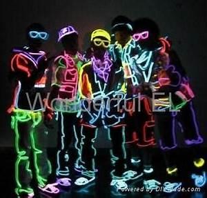 11 colors EL flashing glow neon fiber optic wire WEL F
