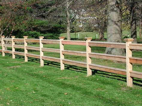 Split Rail Wood Fence, I Like That The Ends Are Flush With