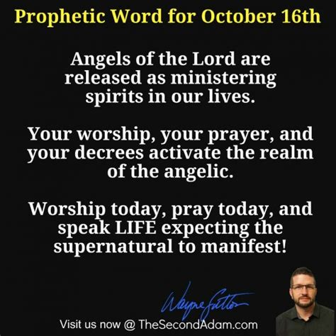 October 16th Daily Prophetic Word Of God  The Second Adam