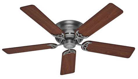 hunter 52 quot low profile iii ceiling fan 20807 in antique
