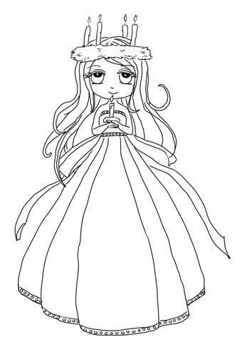 cute st lucia girl coloring page supercoloringcom