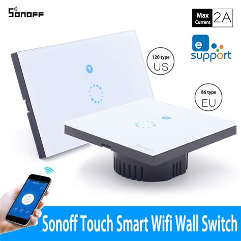 sonoff wifi wall touch light switch 1 on wireless