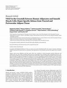 (PDF) VEGF in the Crosstalk between Human...