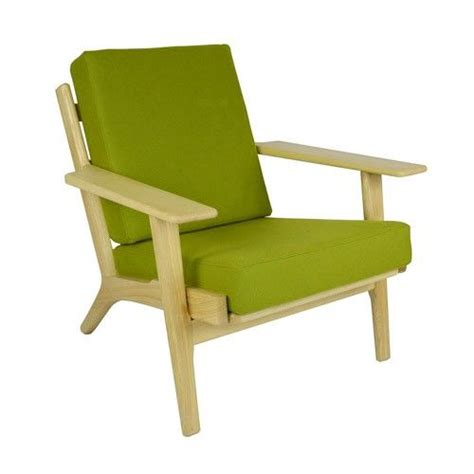 hans wegner plank arm chair replica green milan