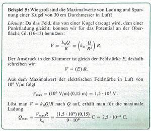 Zugkraft Berechnen Formel : kondensator mit unterschiedlichen ladungen ~ Themetempest.com Abrechnung