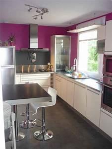 Cuisine Couleur Aubergine : meuble de cuisine blanc quelle couleur pour les murs ~ Premium-room.com Idées de Décoration