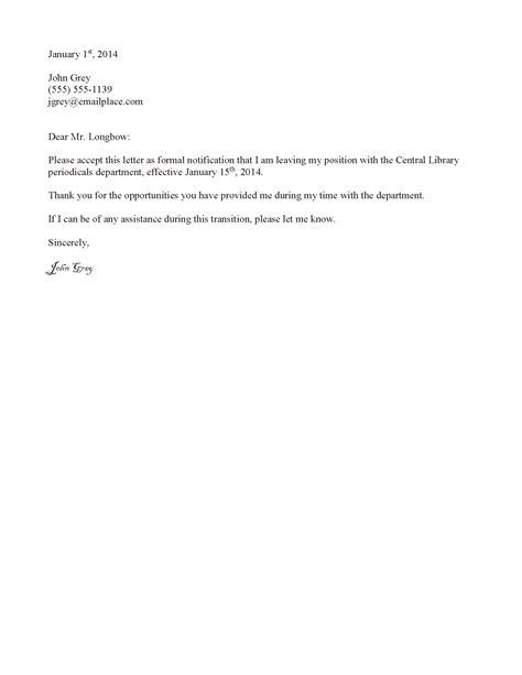 job resignation letter levelings