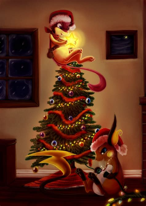 setting up the christmas tree by spacesmilodon on deviantart
