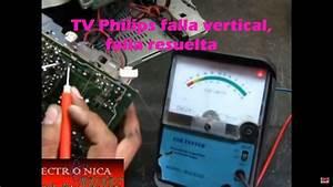 Philips Falla Vertical  Falla Resuelta 21pt6341  44 Chasis