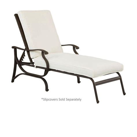 hton bay pembrey patio chaise lounge with cushion