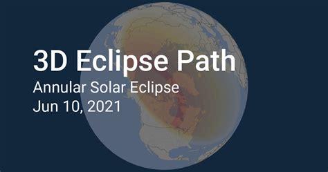 3D Eclipse Path: Solar Eclipse 2021, June 10