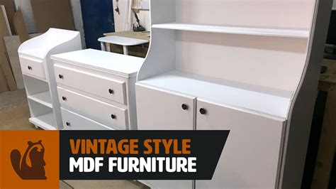 woodworking project vintage style mdf furniture youtube