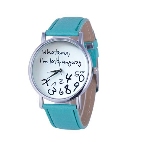 Whatever I M Late Anyway Uhr by L 228 Ssige Uhr F 252 R Damen Und Herren Whatever I M Late Anyway