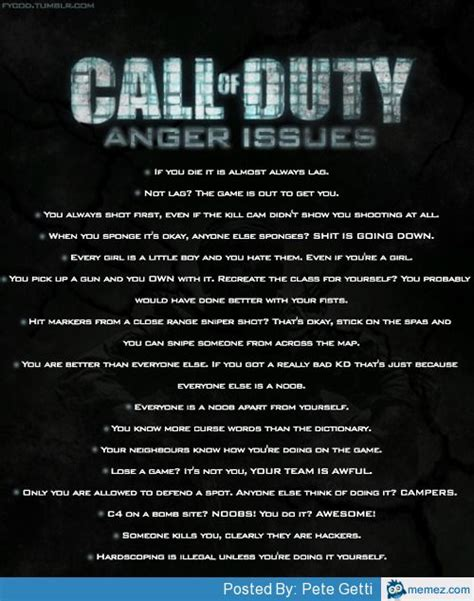 call  duty anger issues memescom