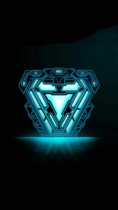 Iron Man Final Arc Reactor Mark 85 iPhone Wallpaper Iron
