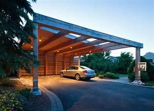 Abri Voiture En Bois : abri de voiture en bois 18 id es diy pour abriter son ~ Nature-et-papiers.com Idées de Décoration