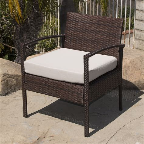wicker settee set 4pc rattan wicker patio furniture set sofa chair table
