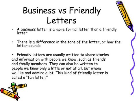writing business letters powerpoint