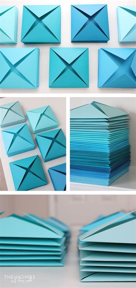 Wand Tapezieren Ideen by Renter Friendly 3d Paper Wall Decor Paper Wall