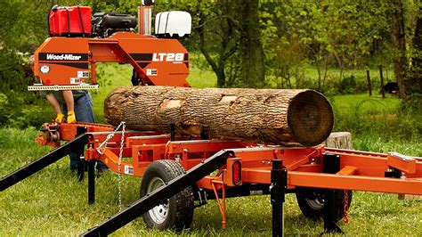wood mizer lt portable sawmill easy offbearing bed