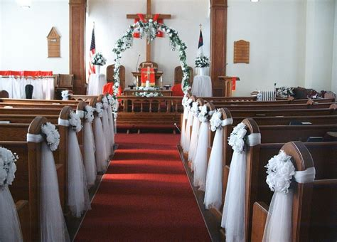 church decorations for wedding church wedding
