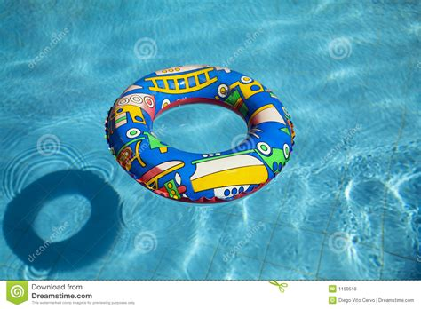 Inflatable Swimming Pool Inner Tube Stock Photo Image