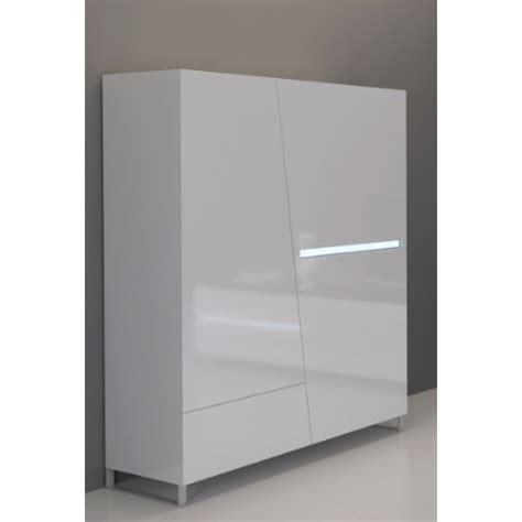 bahut de cuisine meuble haut laqué blanc 120 cm 3 portes 1 tiroir cooper