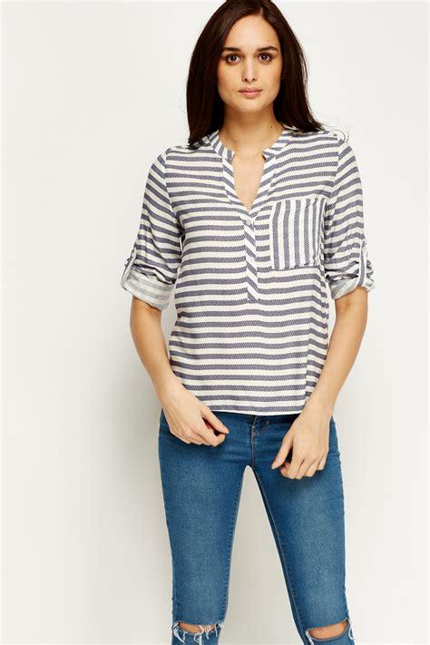navy blouses navy stripe blouse navy white just 5