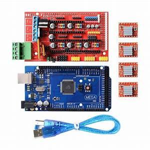 3d Printer Kit Mega 2560 Board   Ramps 1 4   4x A4988 For