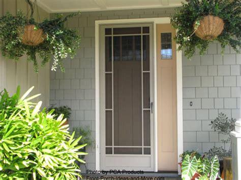 front screen doors use your aluminum screen door to maximize curb appeal