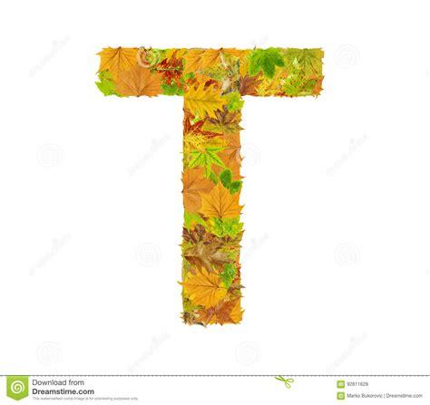 la lettre  de lalphabet faite de feuilles dautomne