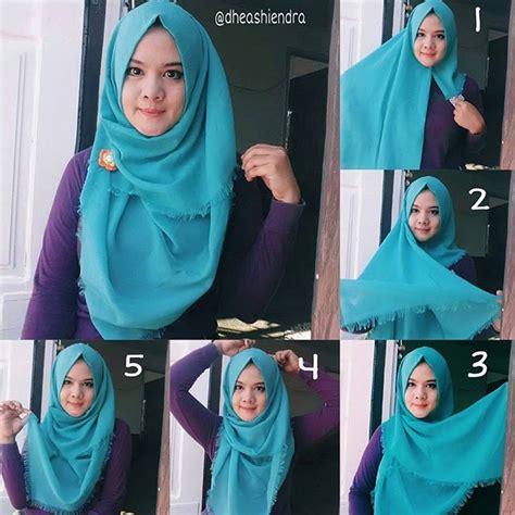 memakai jilbab segi empat terbaru aneka kreasi
