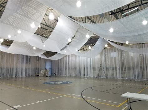 How To Hang Ceiling Drapes For Events - drapery and event rentals llc