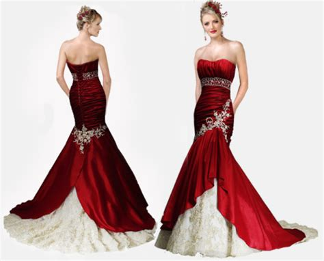 Red And White Wedding Gown To Go For