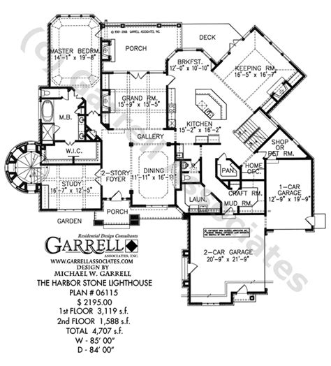 lighthouse floor plans harbor lighthouse house plan house plans by