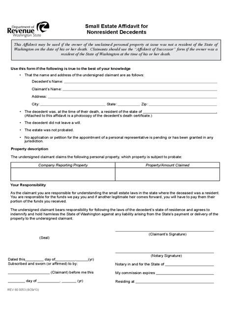 illinois ucc forms small estate affidavit 8 free templates in pdf word