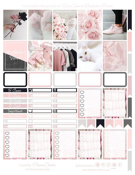 printable aesthetic vibes planner stickers