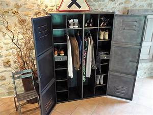 Armoire Industrielle Vintage : armoire industrielle an 50 39 dressing ~ Teatrodelosmanantiales.com Idées de Décoration