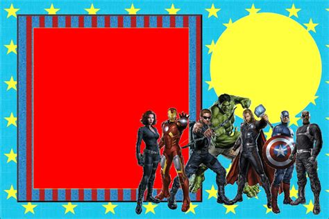 avengers  printable invitations   fiesta