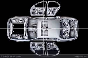 Exploded Illustration Of Car Unibody Frame